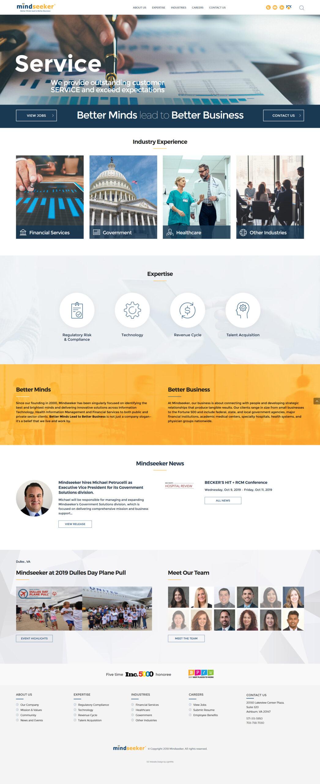 WordPress сайт для кадрового IT агентства