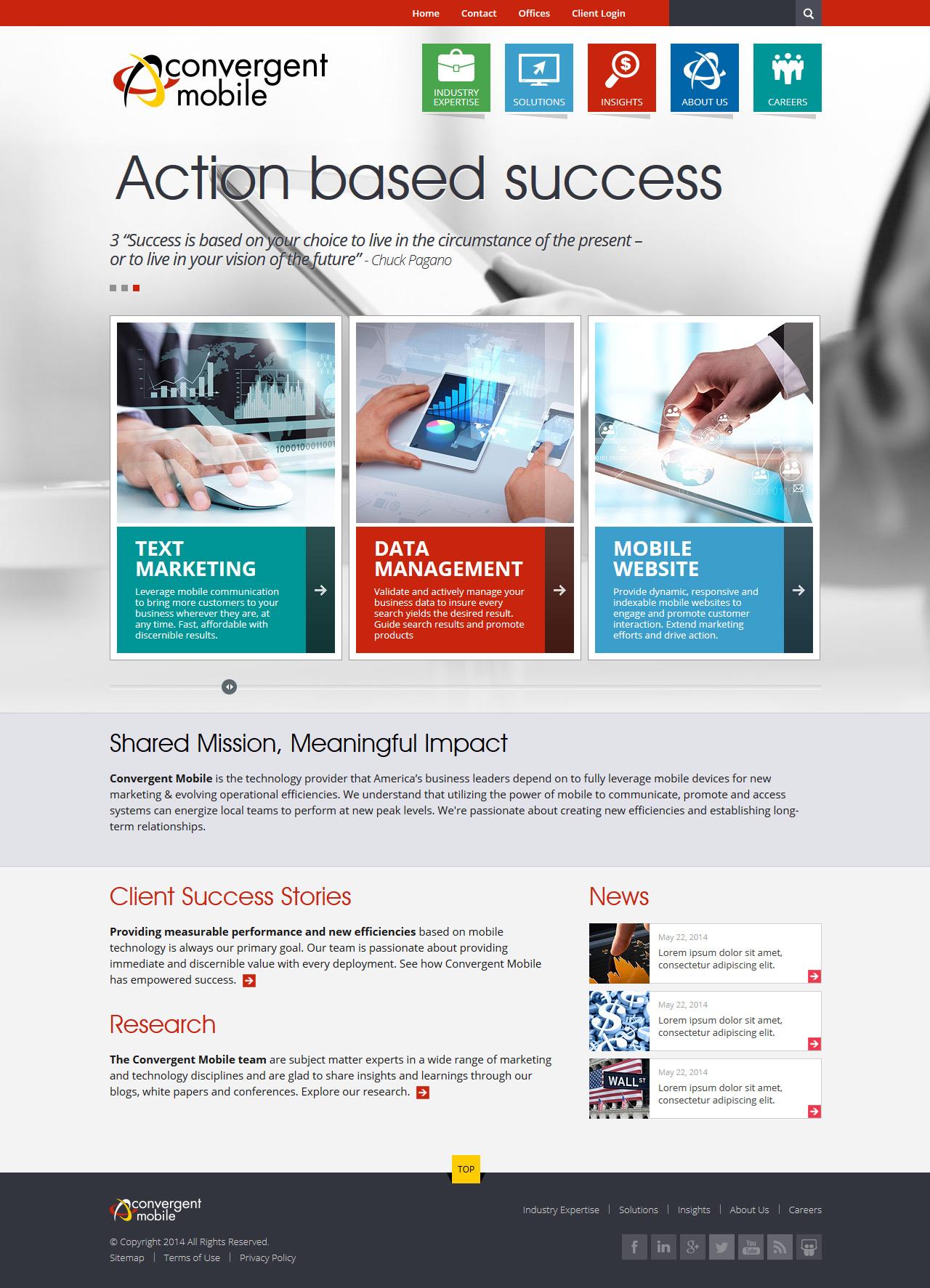 Joomla сайт для маркетинговой компании