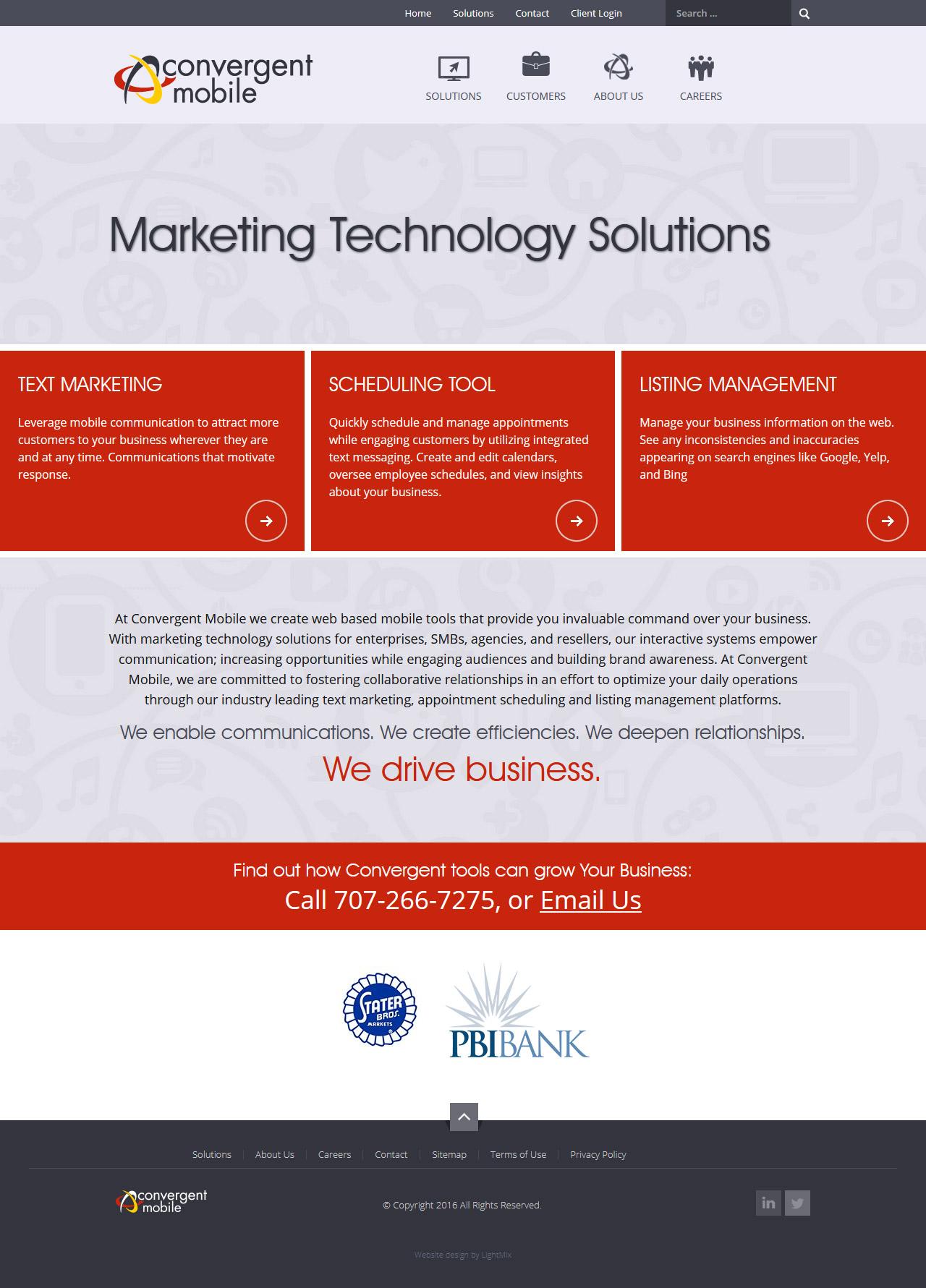 Редизайн Joomla сайта для маркетинговой компании