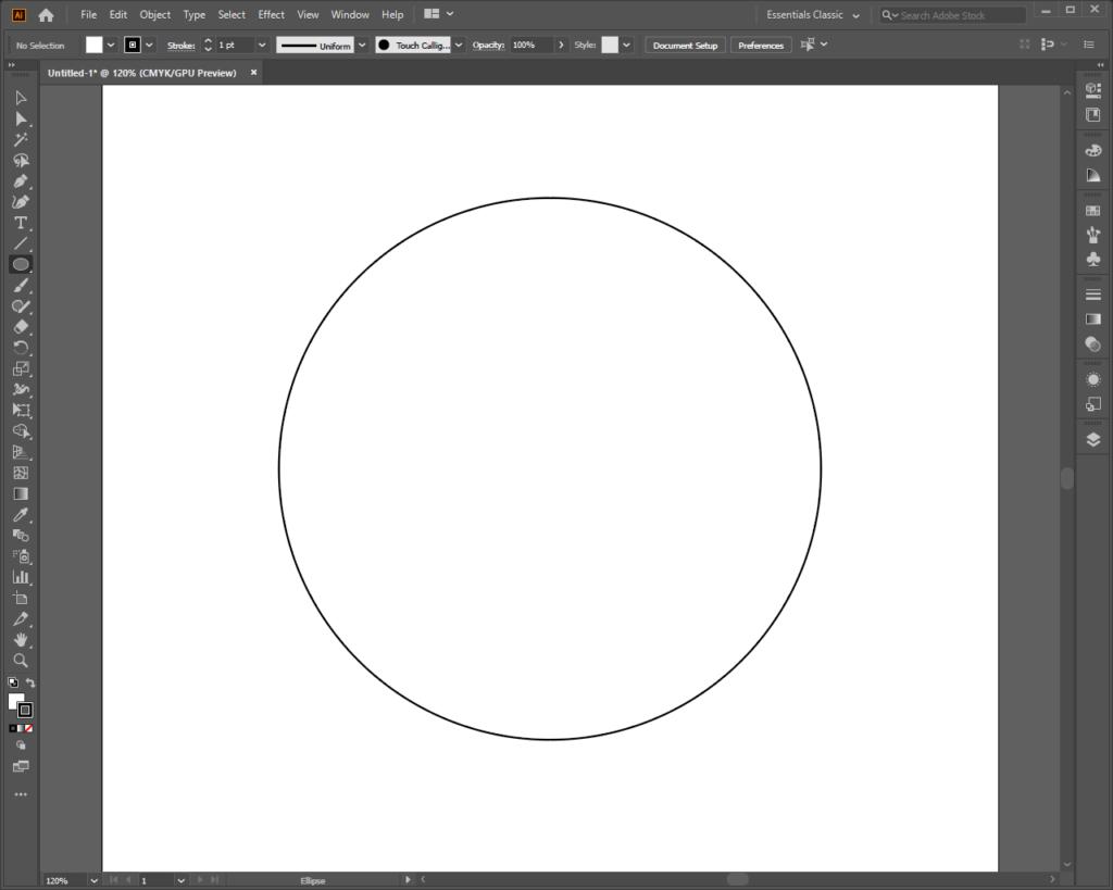 Рисуем круг в Illustrator
