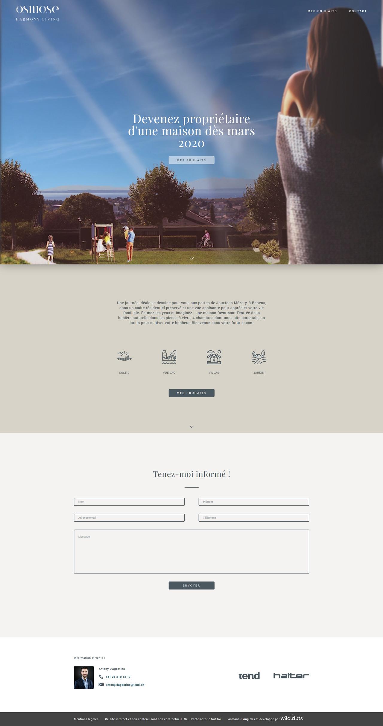 Простой HTML сайт для жилого комплекса