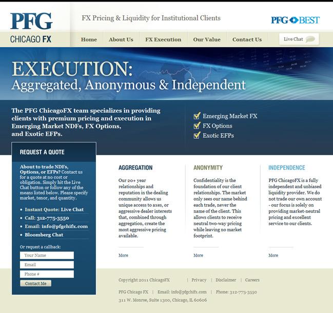 Website design for Веб-сайт для компании – поставщика ликвидности