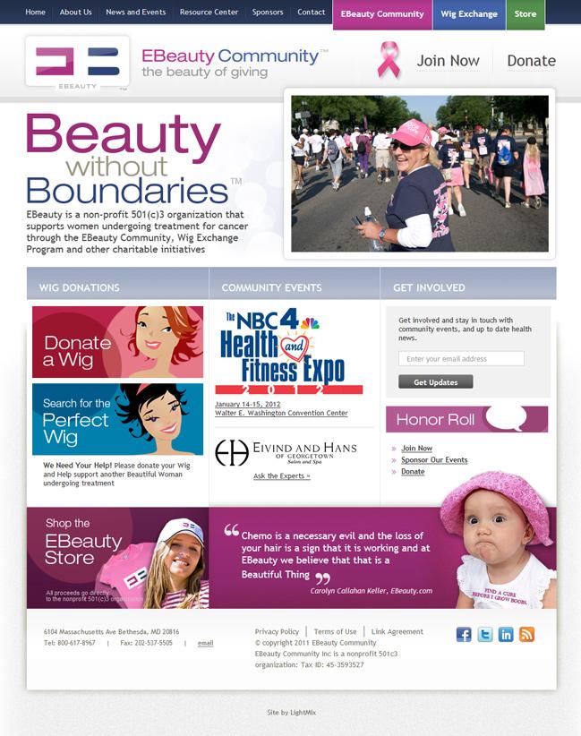 Website design for WordPress сайт для неприбыльной организации Ебьюти
